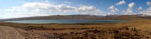Panorama über die Laguna Verde, im Hintergrund die Cordillera Apolobamba.